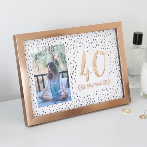 Lisa Angel Ladies Rose Gold 40th Birthday Photo Frame