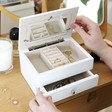 Lisa Angel Ladies' Wooden White Photo Frame Jewellery Box