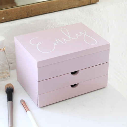 Personalised Name Jewellery Box With Drawers