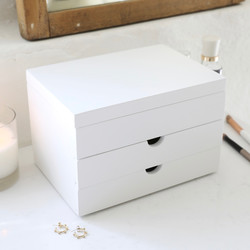 fb18185a7f2 White Jewellery Box with Drawers