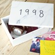 Lisa Angel Personalised Printed Date Marble Storage Box for Him and Her