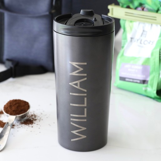 Personalised Travel Coffee Press Flask