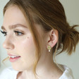 Mismatched Pearl and Organic Shape Stud Earrings