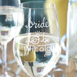 Lisa Angel 'Bride to Be' Wine Glass