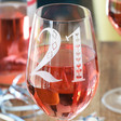 Ladies' Engraved 21st Birthday Wine Glass