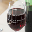 Engraved 'Don't Speak' Wine Glass
