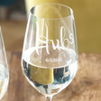 Men's Engraved Hubs Wine Glass