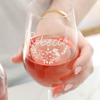 Ladies' Personalised Bridesmaid Wine Glass
