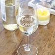 Ladies' Personalised 'Cheers!' Wine Glass