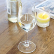 Personalised Engraved Gold Monogram Wine Glass