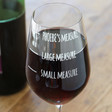 Personalised Engraved 'Your Measure' Wine Glass