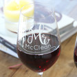 Lisa Angel Engraved Set of 2 Personalised Mr & Mrs Wedding Wine Glasses