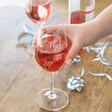 Ladies' Set of 2 Personalised Wedding Wine Glasses