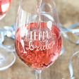 Ladies' 'Team Bride' Wine Glass