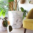 Lisa Angel Personalised 'Keep Going, Keep Growing' Round Marble Effect Storage Sack