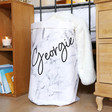 Children's Personalised Name Round Marble Effect Storage Sack