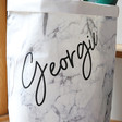 Lisa Angel Tough Personalised Name Round Marble Effect Storage Sack