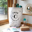 Lisa Angel Personalised 'New Strength' Round Marble Effect Storage Sack