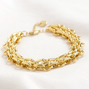 Statement Track Cable Chain Bracelet in Gold