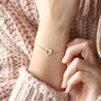 Personalised Heart Outline Bracelet on Model