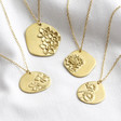 Lisa Angel Gold Sterling Silver Cast Birth Flower Necklace