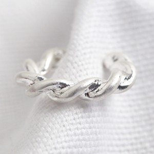 Silver Twisted Earcuff