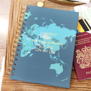 'Everywhere is on My List' Notebook