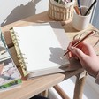 Inside of Lisa Angel Personalised 'Your Drawing' Faux Leather Refillable Notebook