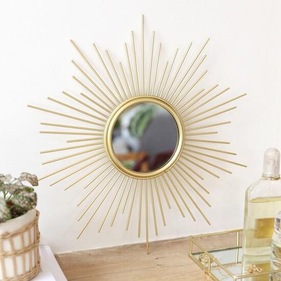 Gold Sunburst Wall Mirror
