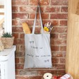 Lisa Angel 100% Cotton Grey 'Your Drawing' Tote Bag