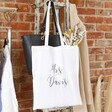 Lisa Angel Personalised Name Cotton Tote Bag in White