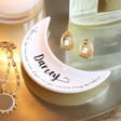 Lisa Angel Personalised Name Crescent Moon Quote Ring Dish