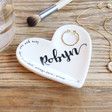 Lisa Angel Personalised Name Heart Quote Ring Dish