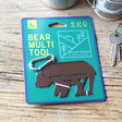 Lisa Angel Metal Bear Multi-Tool Key Ring