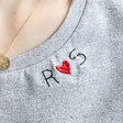 Lisa Angel Women's Personalised Embroidered Heart & Initials T-Shirt
