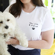 Lisa Angel Personalised Embroidered 'You, Me & the Pet' T-Shirt