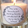 Personalised Meaningful Wording Scented Candle