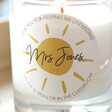 Personalised 'Thank You Teacher' Scented Candle Gift