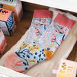 Lisa Angel Ladies' House of Disaster Eden 'Blue' Floral Socks
