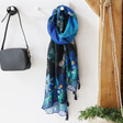 Lisa Angel Ladies' House of Disaster Papillon Blue Scarf