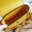 Lisa Angel Ladies' Yellow Mustard Cross Body Handbag