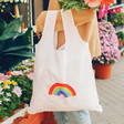 Lisa Angel Ladies' Reusable Rainbow Shopper Bag