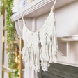 Macrame Bunting Craft Kit Hung in Home