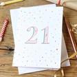 Lisa Angel 21st Birthday Greeting Card