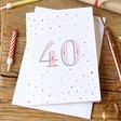 Lisa Angel 40th Birthday Greeting Card