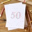 Lisa Angel 50th Birthday Greeting Card