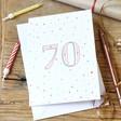 Lisa Angel 70th Birthday Greeting Card