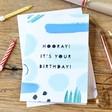 Lisa Angel Blue Brush Stroke Birthday Card