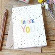 Lisa Angel Colourful 'Thank You' Greeting Card