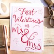 Lisa Angel Romantic 'First Valentine's as Mr & Mrs' Valentine's Day Card